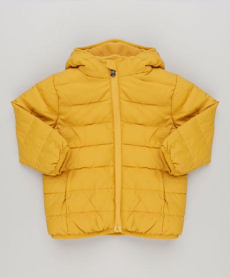 Jaqueta-Infantil-Puffer-com-Capuz-e-Forro-em-Fleece-Amarelo-Escuro-8845831-Amarelo_Escuro_1