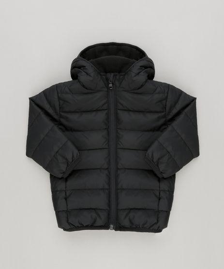 Jaqueta-Infantil-Puffer-com-Capuz-e-Forro-em-Fleece-Preta-8845831-Preto_1