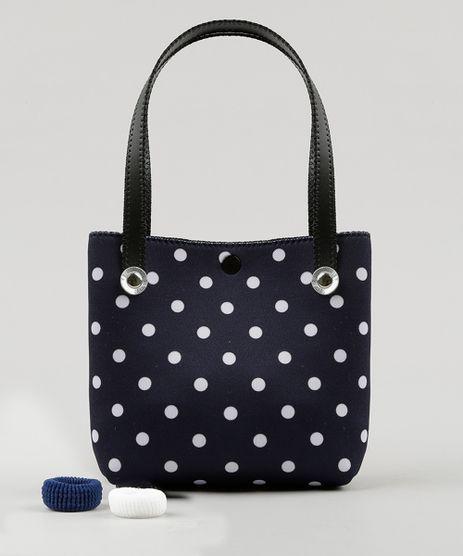 Bolsa-Infantil-Estampada-de-Poa---Elasticos-de-Cabelo-Azul-Marinho-9126641-Azul_Marinho_1