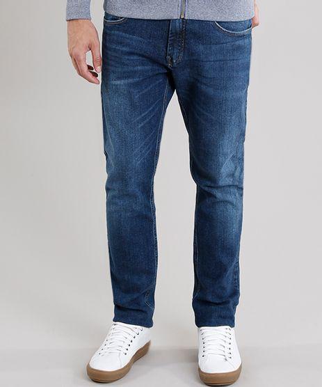 Calca-Jeans-Masculina-Slim-com-Bolsos-Azul-Escuro-8762761-Azul_Escuro_1