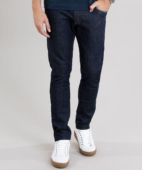Calca-Jeans-Masculina-Slim-com-Bolsos-Azul-Escuro-8843535-Azul_Escuro_1