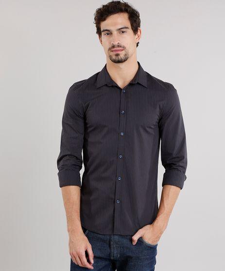 Camisa-Masculina-Slim-Listrada-Manga-Longa-Azul-Marinho-8856178-Azul_Marinho_1
