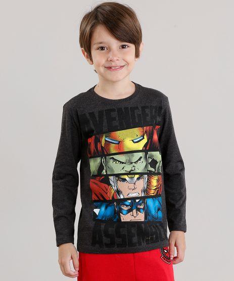 Camiseta-Infantil-Herois-Os-Vingadores-Manga-Longa-Gola-Careca-Cinza-Mescla-Escuro-9043376-Cinza_Mescla_Escuro_1