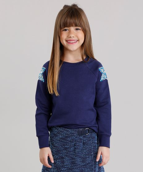 Blusao-Infantil-com-Paetes-em-Moletom-Decote-Redondo-Mangas-Longas-Azul-Marinho-9043452-Azul_Marinho_1