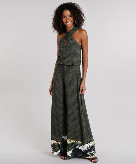 Macacao-Feminino-Pantalona-Estampado-com-Decote-Transpassado--Verde-Escuro-9110414-Verde_Escuro_1