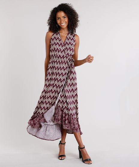 Vestido-Feminino-Longo-Transpassado-Estampado-Geometrico-Decote-V-Vinho-8926219-Vinho_1