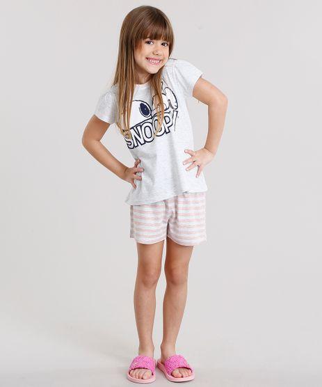 Pijama-Infantil-Snoopy-Manga-Curta-Cinza-Mescla-Claro-9133008-Cinza_Mescla_Claro_1