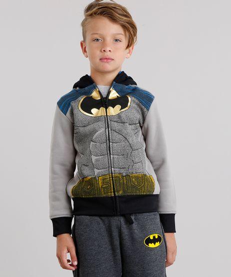 Blusao-Infantil-Batman-em-Moletom-com-Capuz-com-Mascara-Manga-Longa-Cinza-8484768-Cinza_1