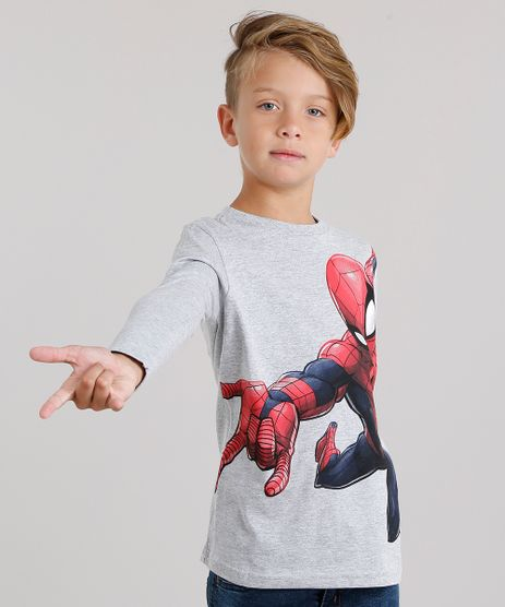 Camiseta-Infantil-Homem-Aranha-Manga-Longa-Gola-Careca-Cinza-Mescla-9140235-Cinza_Mescla_1