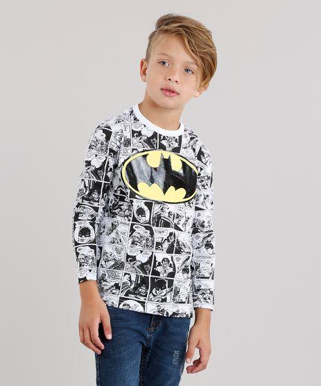 Camiseta-Infantil-Batman-Estampada-de-Quadrinhos-Manga-Longa-Gola-Careca-Branca-9139700-Branco_1