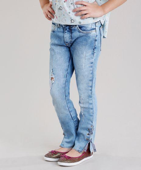 Calca-Jeans-Infantil-Destroyed-com-Tira-Xadrez-na-Barra-Azul-Claro-9138433-Azul_Claro_1