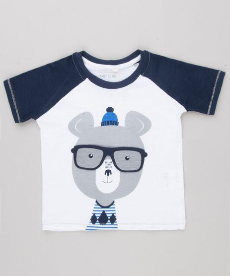 Camiseta-Infantil-Raglan-com-Estampa-Interativa-Urso-com-Oculos-Manga-Curta-Gola-Careca-Off-White-9140664-Off_White_1