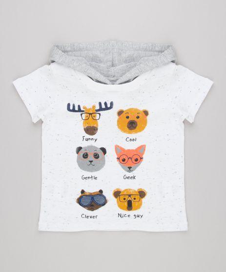 Camiseta-Infantil-com-Estampa-Interativa-de-Bichos-Manga-Curta-com-Capuz-Off-White-9140284-Off_White_1