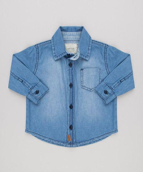 Camisa-Jeans-Infantil-Manga-Longa-com-Bolso-em-Algodao---Sustentavel-Azul-Medio-9158271-Azul_Medio_1