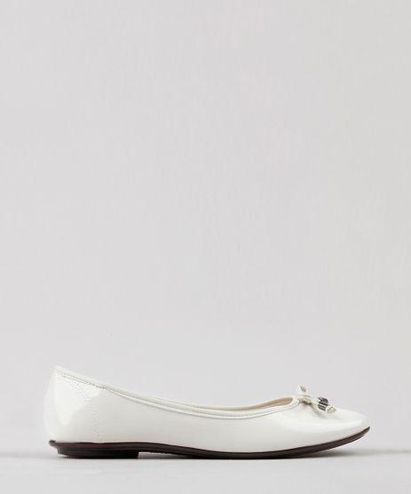 Sapatilha-Feminina-Bico-Redondo-em-Verniz-com-Laco-Off-White-9185782-Off_White_1