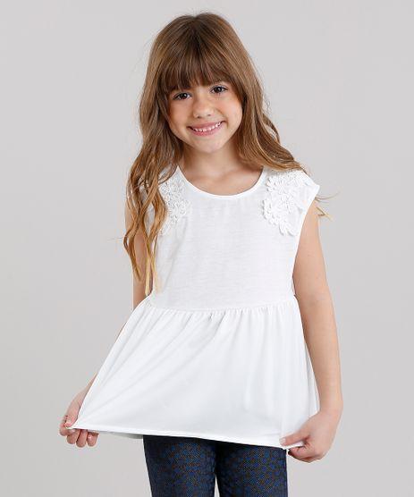 Regata-infantil-Acetinada-com-Renda-Decote-Redondo-em-Algodao---Sustentavel-Off-White-8922295-Off_White_1