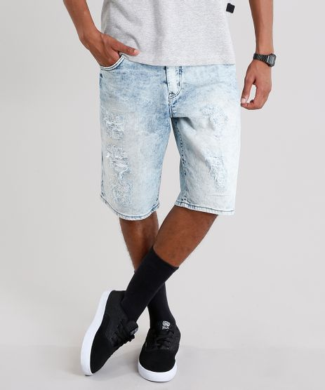Bermuda-Jeans-Masculina-Reta-Destroyed-com-Bolsos-Azul-Claro-8766957-Azul_Claro_1