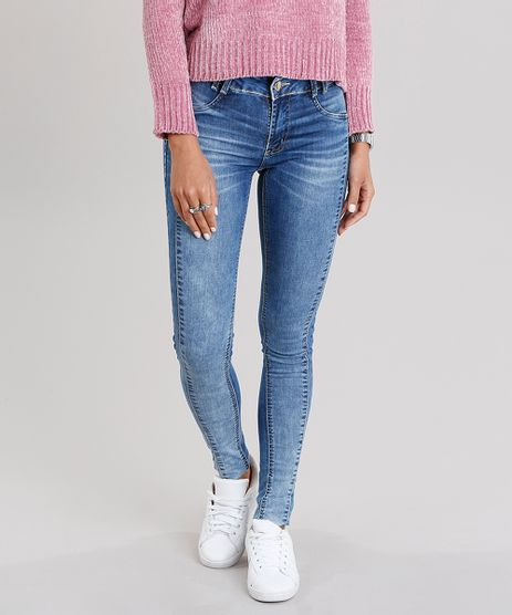 Calca-Jeans-Feminina-Super-Skinny-Sawary-Levanta-Bumbum-Azul-Medio-9135617-Azul_Medio_1