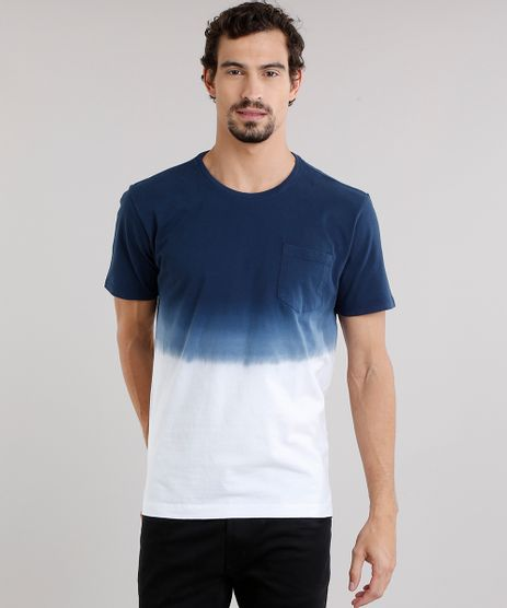 Camiseta-Masculina-Degrade-com-Bolso-Manga-Curta-Decote-Careca-Azul-Marinho-9115034-Azul_Marinho_1