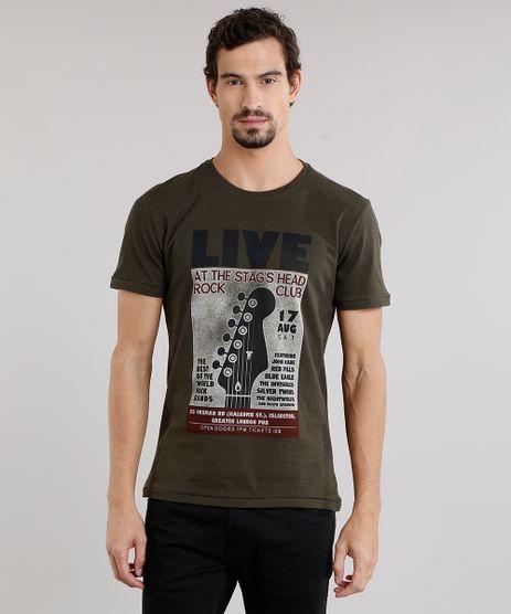 Camiseta-Masculina--Live-Rock-Club--Manga-Curta-Decote-Careca-em-Algodao---Sustentavel-Verde-Militar-9164637-Verde_Militar_1