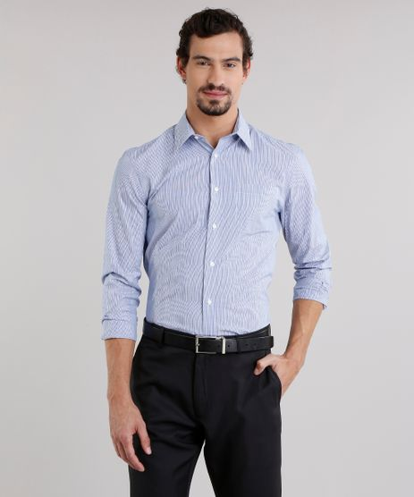 Camisa-Masculina-Comfort-Listrada-com-Bolso-Manga-Longa-Azul-8856418-Azul_1