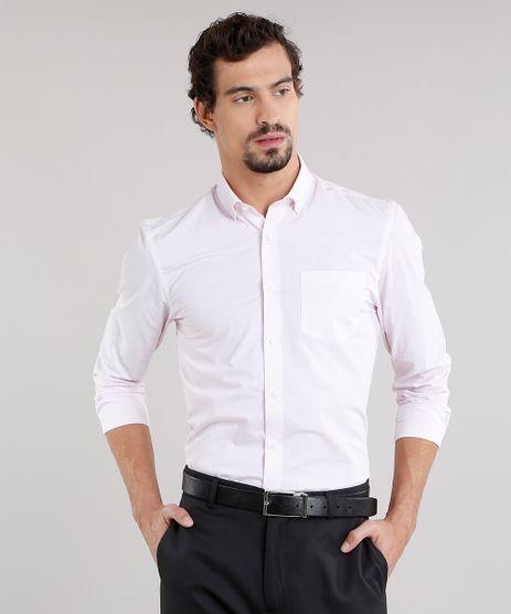 Camisa-Masculina-Comfort-Estampada-de-Poa-com-Bolso-Manga-Longa-Off-White-8856425-Off_White_1