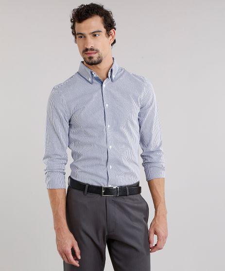 Camisa-Masculina-Slim-Listrada-Manga-Longa-Azul-8858216-Azul_1