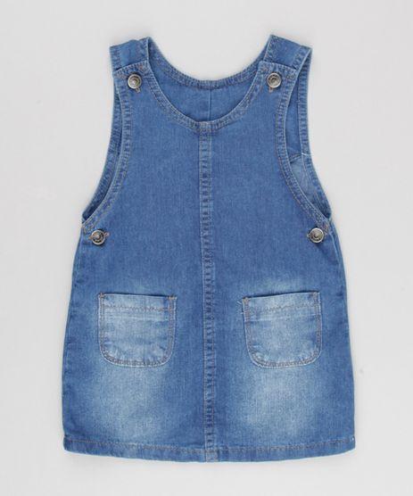 Vestido-Jeans-Infantil-com-Bolsos-Sem-Manga-Azul-Medio-9093579-Azul_Medio_1