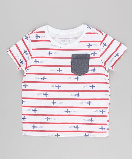 Camiseta-Infantil-Listrada-com-Bolso-em-Jeans-Manga-Curta-Gola-Careca-Off-White-9140271-Off_White_1