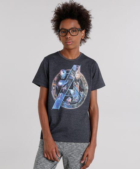 Camiseta-Infantil-Os-Vingadores-Manga-Curta-Gola-Careca-Cinza-Mescla-Escuro-9141977-Cinza_Mescla_Escuro_1