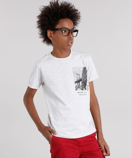 Camiseta-Infantil--New-York-City--Manga-Curta-Gola-Careca-Cinza-Mescla-Claro-9129174-Cinza_Mescla_Claro_1