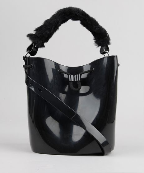 Bolsa-Feminina-Wish-Bag-Zaxy-com-Pelo--Preta-9155141-Preto_1