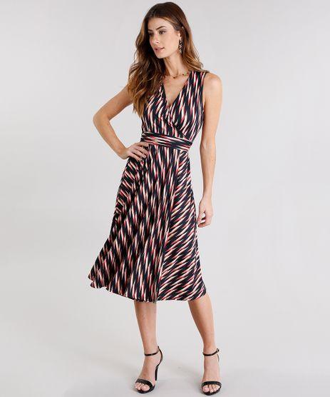 Vestido-Feminino-Envelope-Estampado-Geometrico-com-Decote-V-Transpassado-com-Amarracao-Preto-9127708-Preto_1
