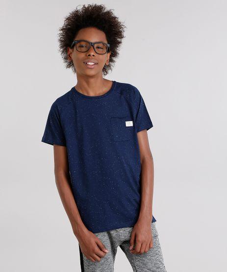 Camiseta-Infantil-Basica-com-Bolso-Manga-Curta-Gola-Careca-Azul-Marinho-9142298-Azul_Marinho_1