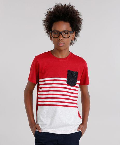 Camiseta-Infantil-com--Listras-e-Bolso-Manga-Curta-Gola-Careca-Vermelha-9129217-Vermelho_1