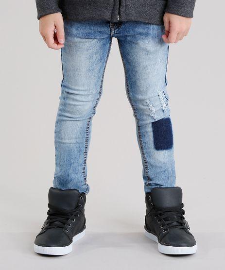 Calca-Jeans-Infantil-Skinny-com-Puidos-Azul-Claro-9147159-Azul_Claro_1