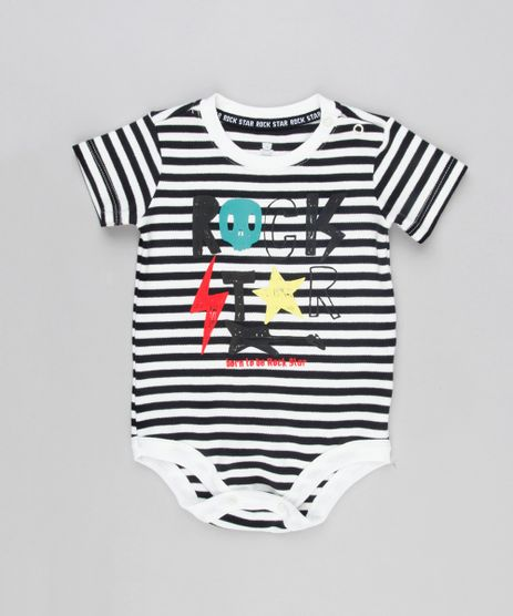 Body-Infantil-Listrado--Rock-Star--Manga-Curta-Decote-Redondo-Off-White-9133901-Off_White_1