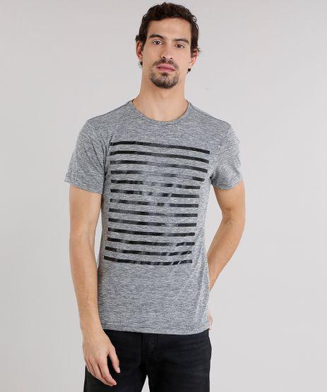 Camiseta-Masculina-com-Listras-Manga-Curta-Gola-Careca-Cinza-Mescla-9138784-Cinza_Mescla_1