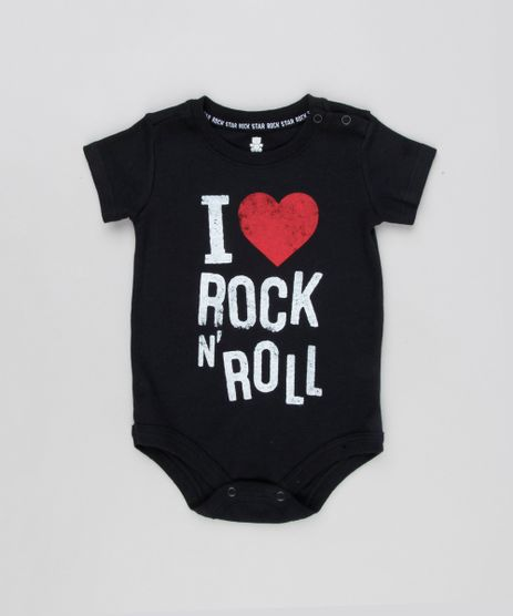 Body-Infantil--I-Love-Rock-N--Roll--Manga-Curta-Decote-Redondo-Preto-9133900-Preto_1