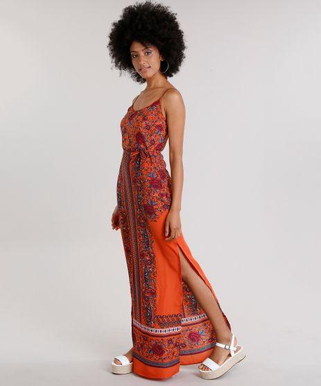 Vestido-Feminino-Longo-Estampado-Floral-com-Fendas-Alca-Fina-Laranja-8850719-Laranja_1