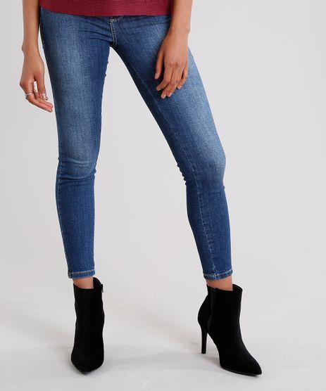 Calca-Jeans-Feminina-Super-Skinny-Modela-Bumbum-Sawary-com-Strass-Azul-Escuro-9135614-Azul_Escuro_1