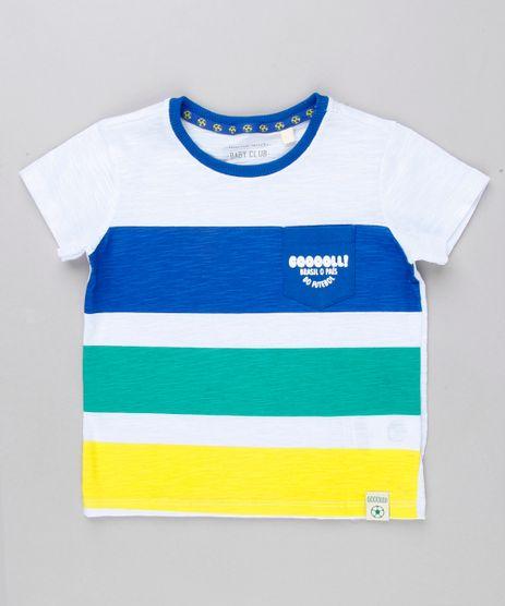 Camiseta-Infantil-Brasil--Gooooll--com-Bolso-Manga-Curta-Gola-Careca-Branca-9156916-Branco_1