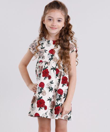 Vestido-Infantil-Estampado-Floral-em-Jacquard-Manga-Curta-Rose-8911820-Rose_1