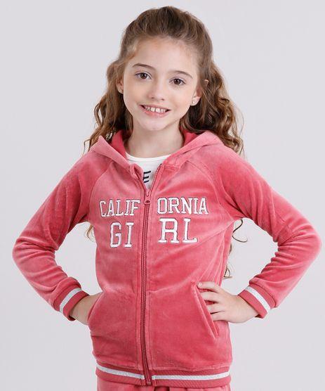 Blusao-Infantil--California--em-Plush-com-Capuz-Manga-Longa-Rosa-Escuro-8840263-Rosa_Escuro_1