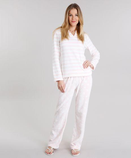 Pijama-Feminino-Estampado-em-Fleece-Manga-Longa-Rosa-Claro-8877221-Rosa_Claro_1