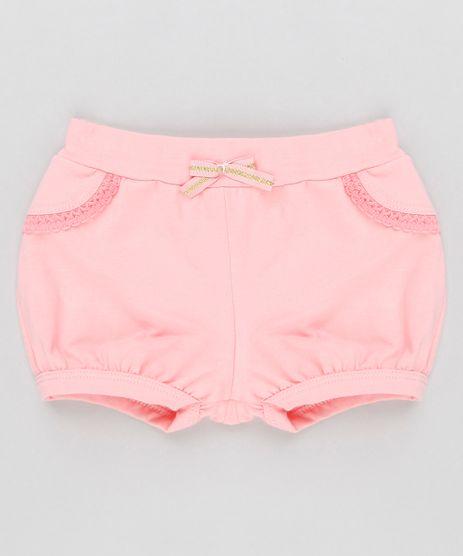 Short-Infantil-Balone-com-Renda-em-Algodao---Sustentavel-Rosa-9058493-Rosa_1