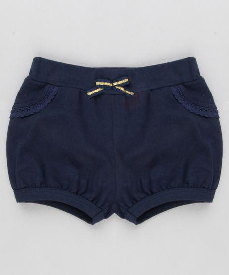 Short-Infantil-Balone-com-Renda-em-Algodao---Sustentavel-Azul-Marinho-9058487-Azul_Marinho_1