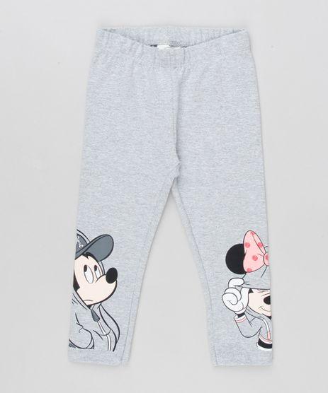 Calca-Legging-Infantil-Minnie-e-Mickey-em-Algodao---Sustentavel-Cinza-Mescla-9157091-Cinza_Mescla_1