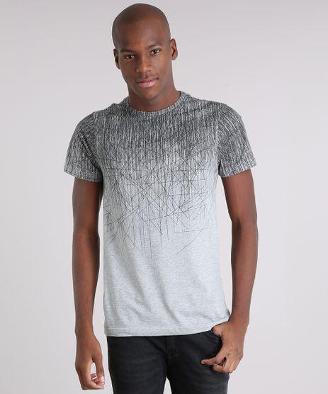 Camiseta-Masculina-com-Estampa-Geometrica-Manga-Curta-Gola-Careca-Cinza-Mescla-8760943-Cinza_Mescla_1