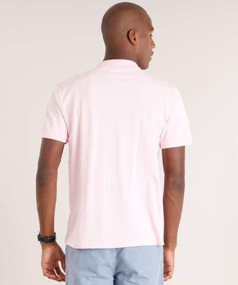 56c56568f1 po o mascu ina básica em piquet manga curta rosa c aro cea ...